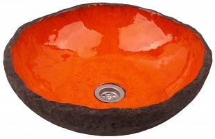 Polmira  Orange Irregular Shaped Sink